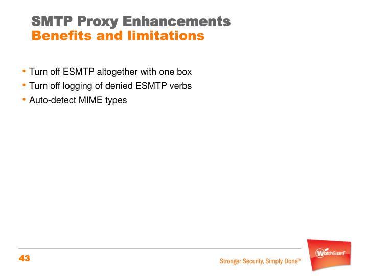 SMTP Proxy Enhancements