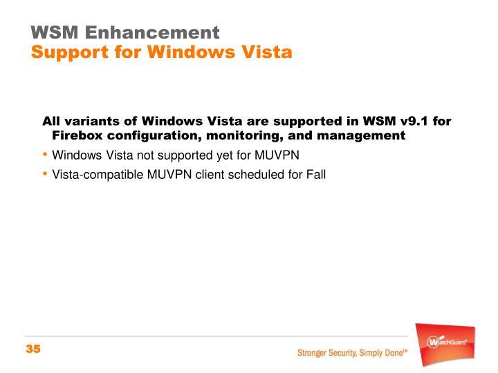 WSM Enhancement