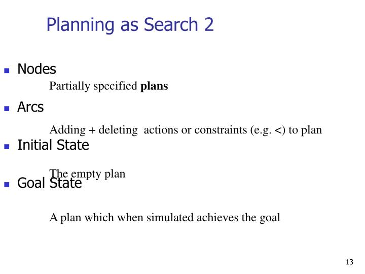 Planning as Search 2