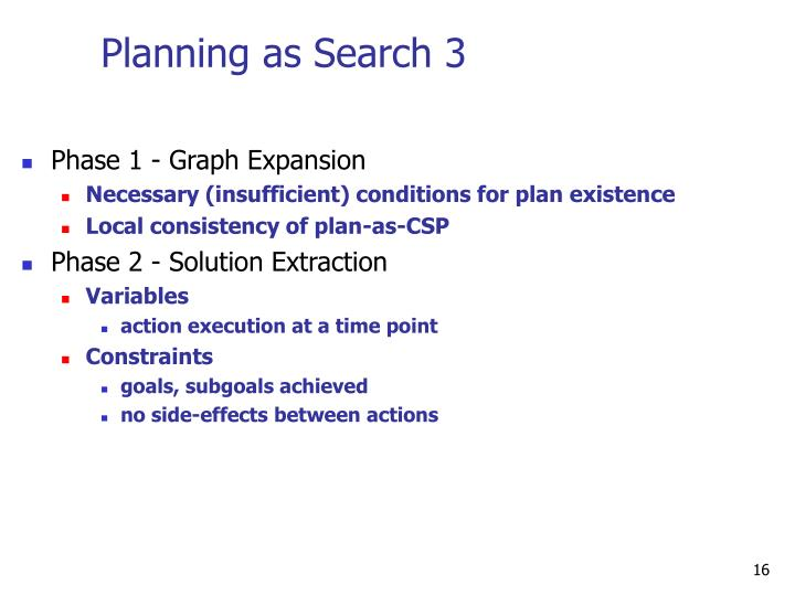Planning as Search 3