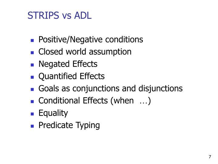 STRIPS vs ADL