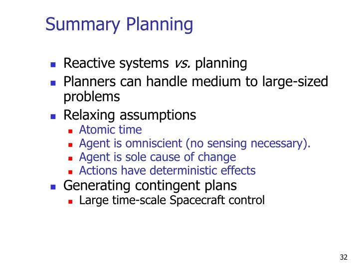 Summary Planning