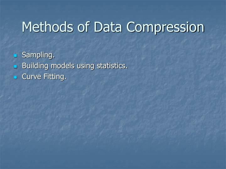 Methods of Data Compression