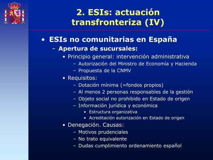2. ESIs: actuación transfronteriza (IV)