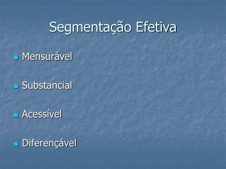 Segmentação Efetiva