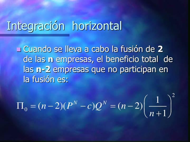Integración  horizontal