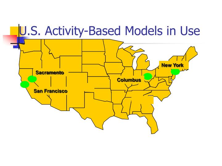 U.S. Activity-Based Models in Use