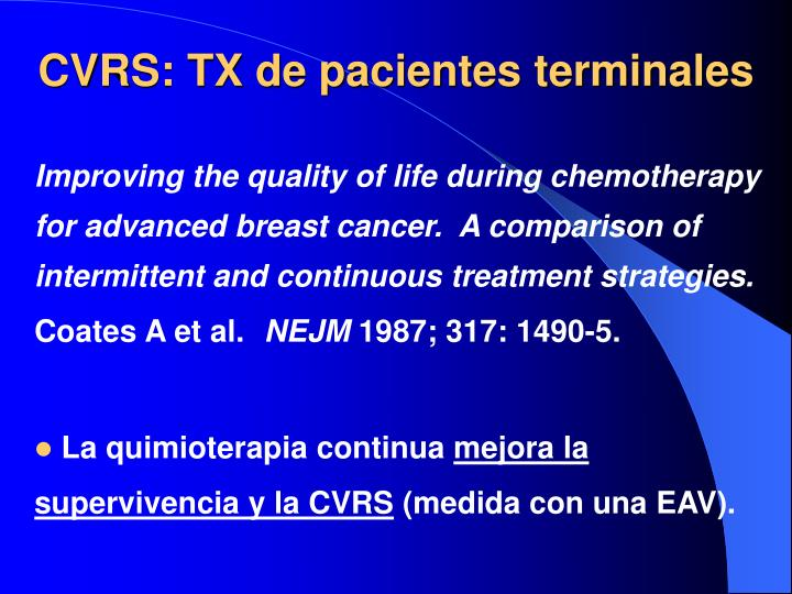 Improving the quality of life during chemotherapy for advanced breast cancer.  A comparison of intermittent and continuous treatment strategies.