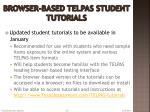 browser based telpas student tutorials