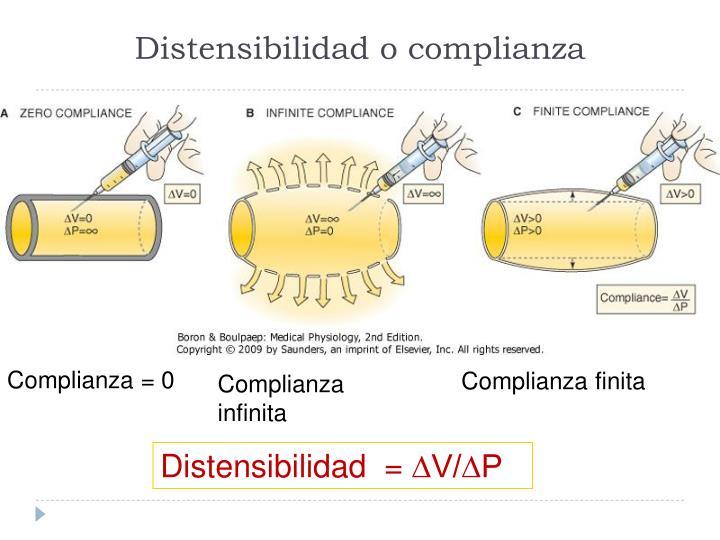 Distensibilidad o complianza