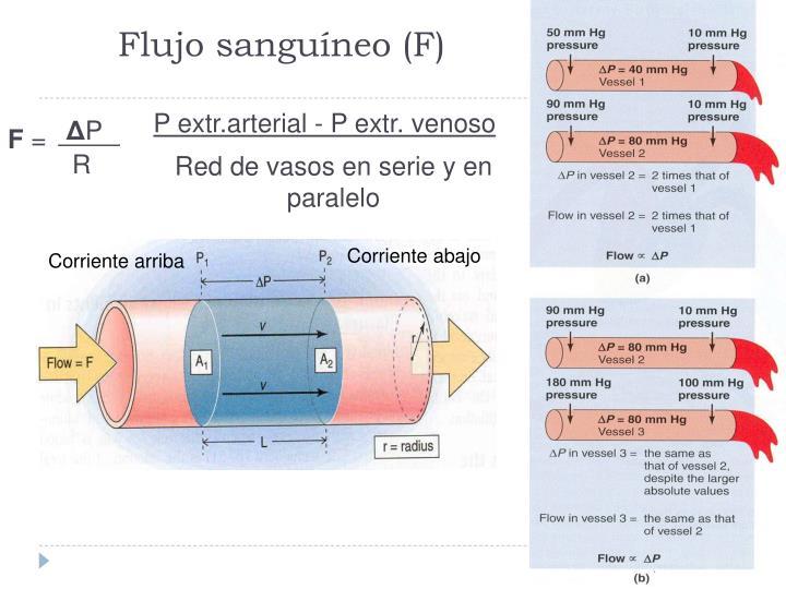 P extr.arterial - P extr. venoso