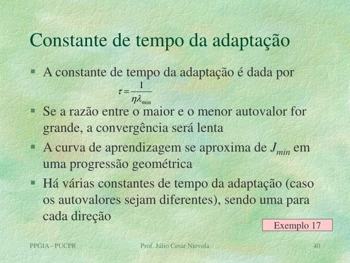 Constante de tempo da adaptação