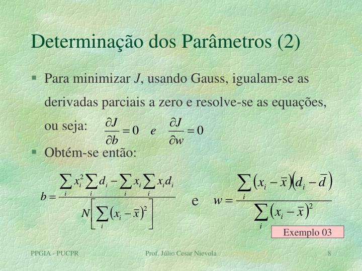 Determinação dos Parâmetros (2)