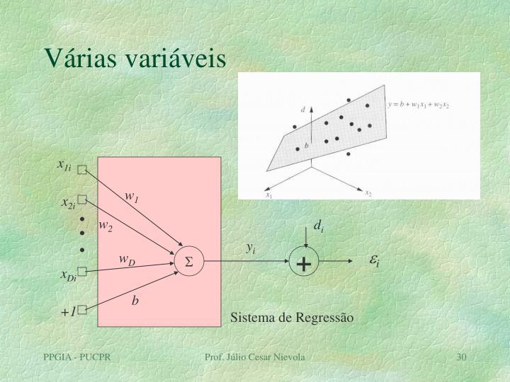 Várias variáveis