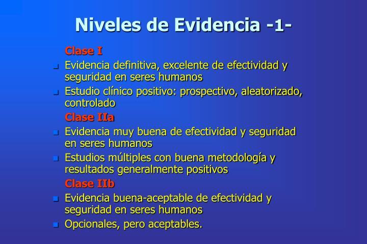 Niveles de Evidencia -