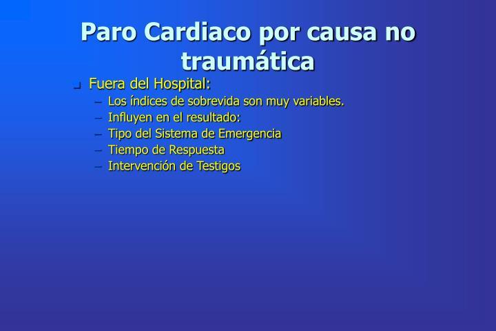 Paro Cardiaco por causa no traumática