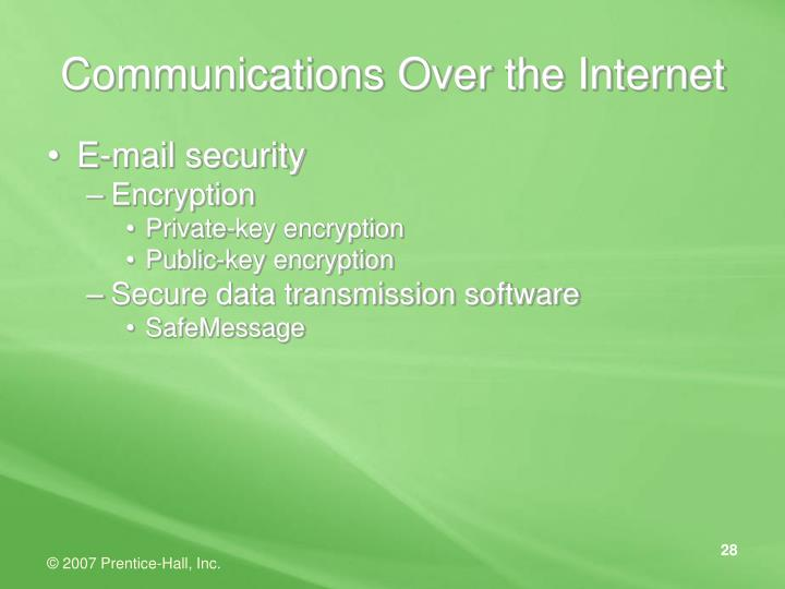 Communications Over the Internet