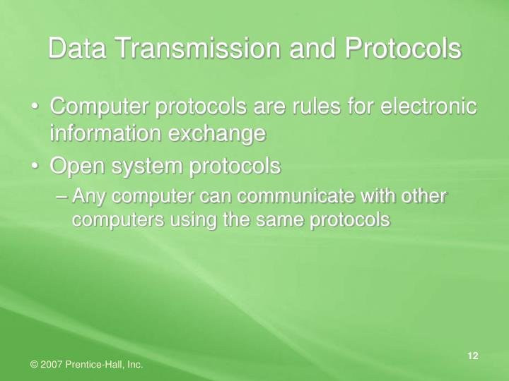 Data Transmission and Protocols