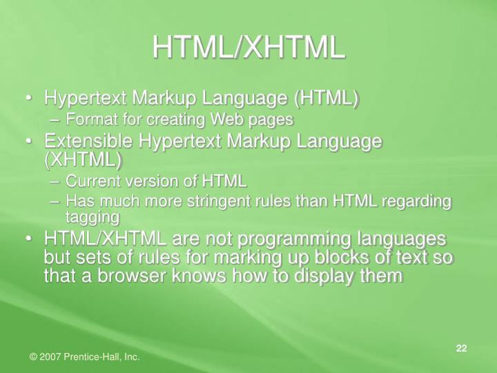 HTML/XHTML
