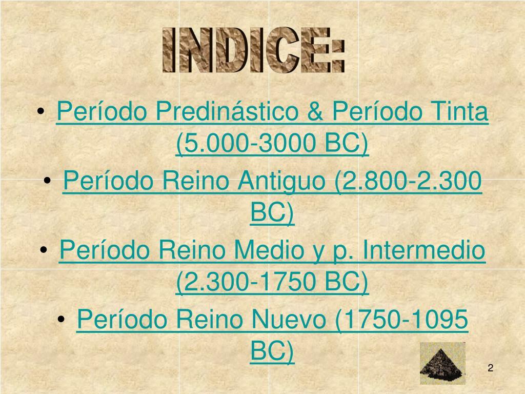 INDICE: