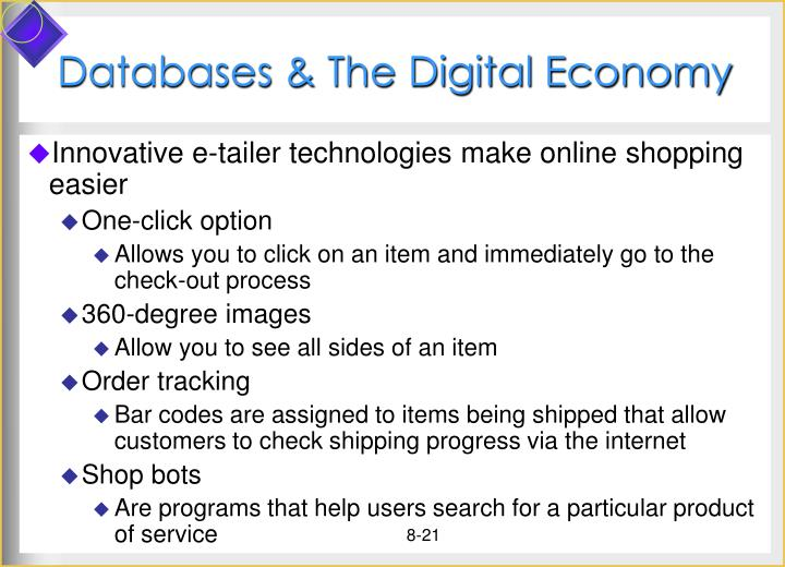 Databases & The Digital Economy