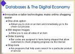 databases the digital economy1