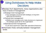 using databases to help make decisions2
