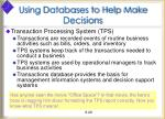 using databases to help make decisions5