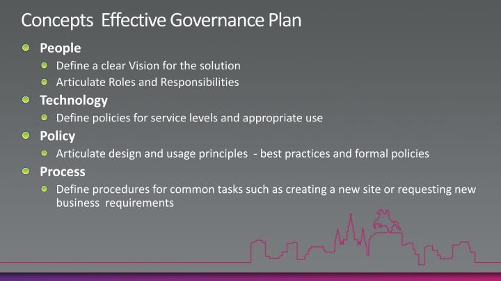 Concepts  Effective Governance Plan