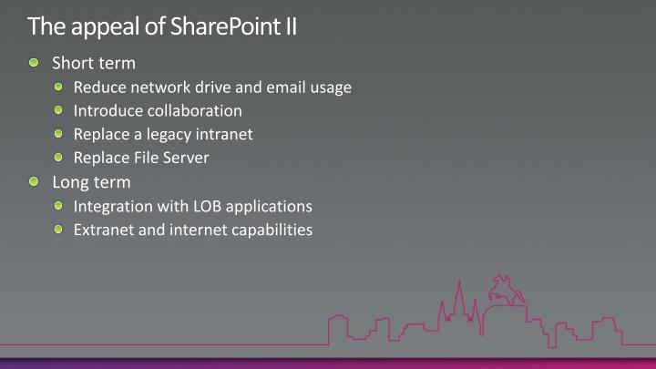The appeal of SharePoint II