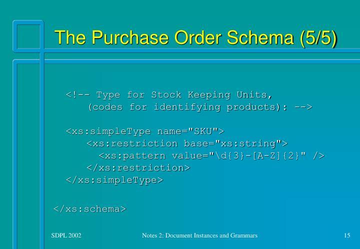 The Purchase Order Schema (5/5)