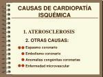 causas de cardiopat a isqu mica