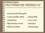 factores de riesgo cv