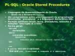 pl sql oracle stored procedures