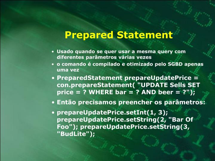Prepared Statement