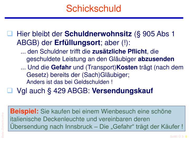 Schickschuld