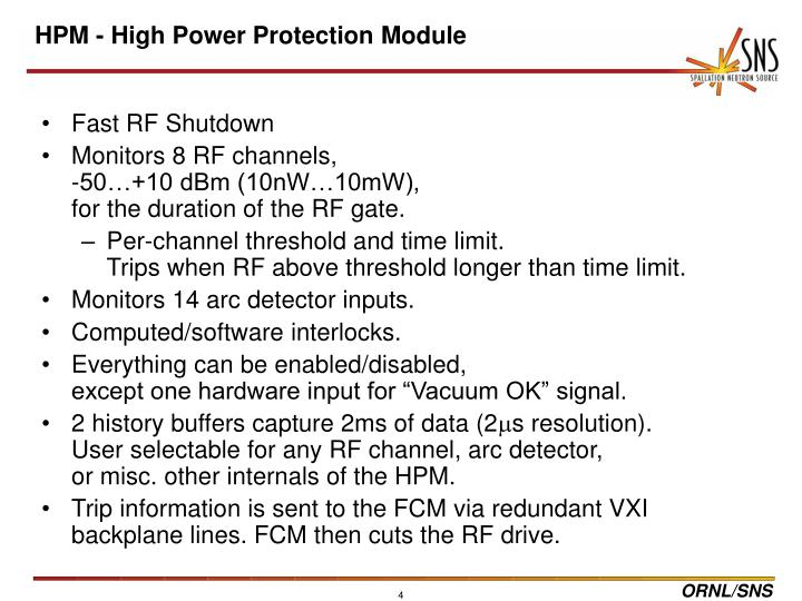 HPM - High Power Protection Module