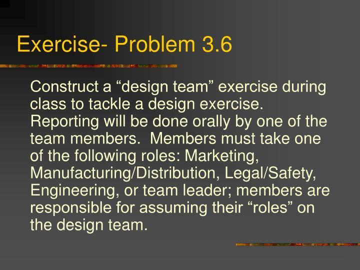 Exercise- Problem 3.6