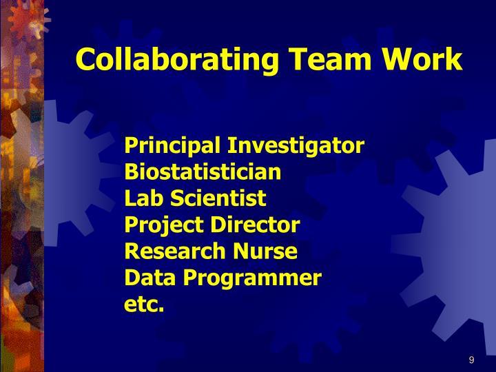 Collaborating Team Work
