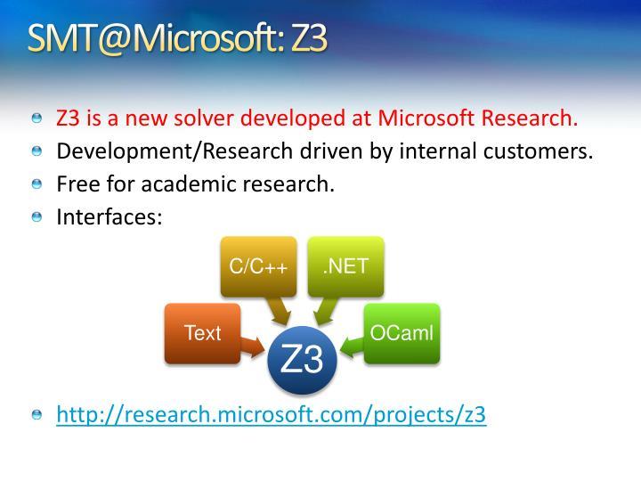 SMT@Microsoft