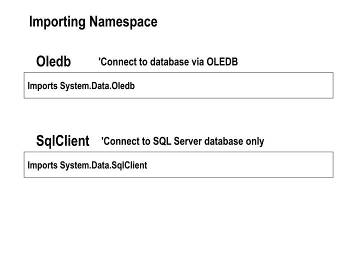 Importing Namespace