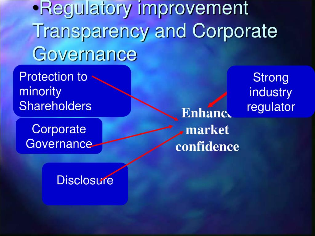 transparency in corporate governance essay The role of transparency and accountability for economic development in resource-rich countries, address by agustín carstens, deputy managing director, imf.