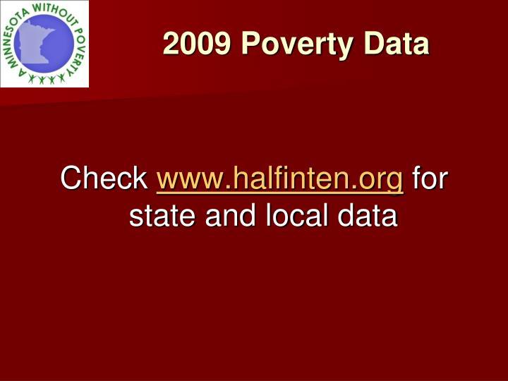 2009 Poverty Data
