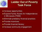 ladder out of poverty task force