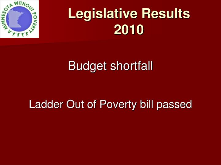 Legislative Results