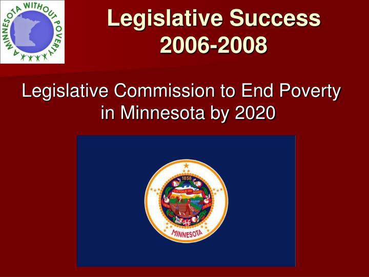 Legislative Success