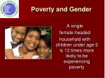 poverty and gender