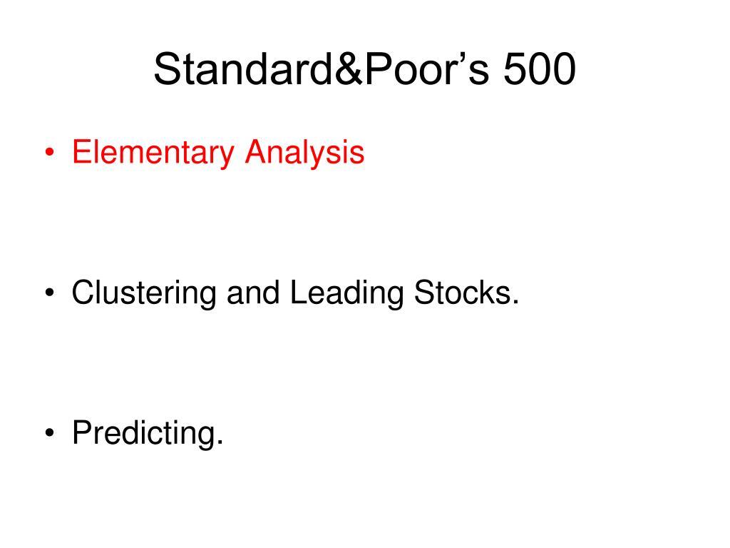Standard&Poor's 500