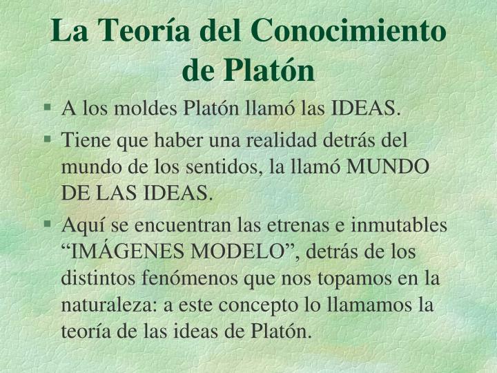 La Teoría del Conocimiento de Platón