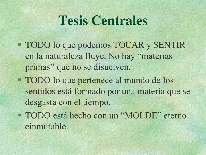 Tesis Centrales